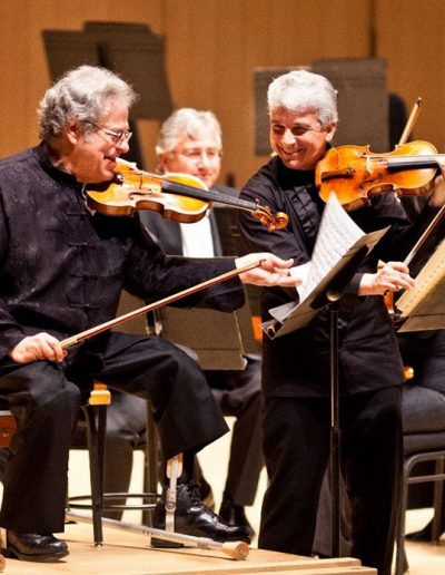 Rehearsing the Bach Double with Itzhak Perlman. April 2012